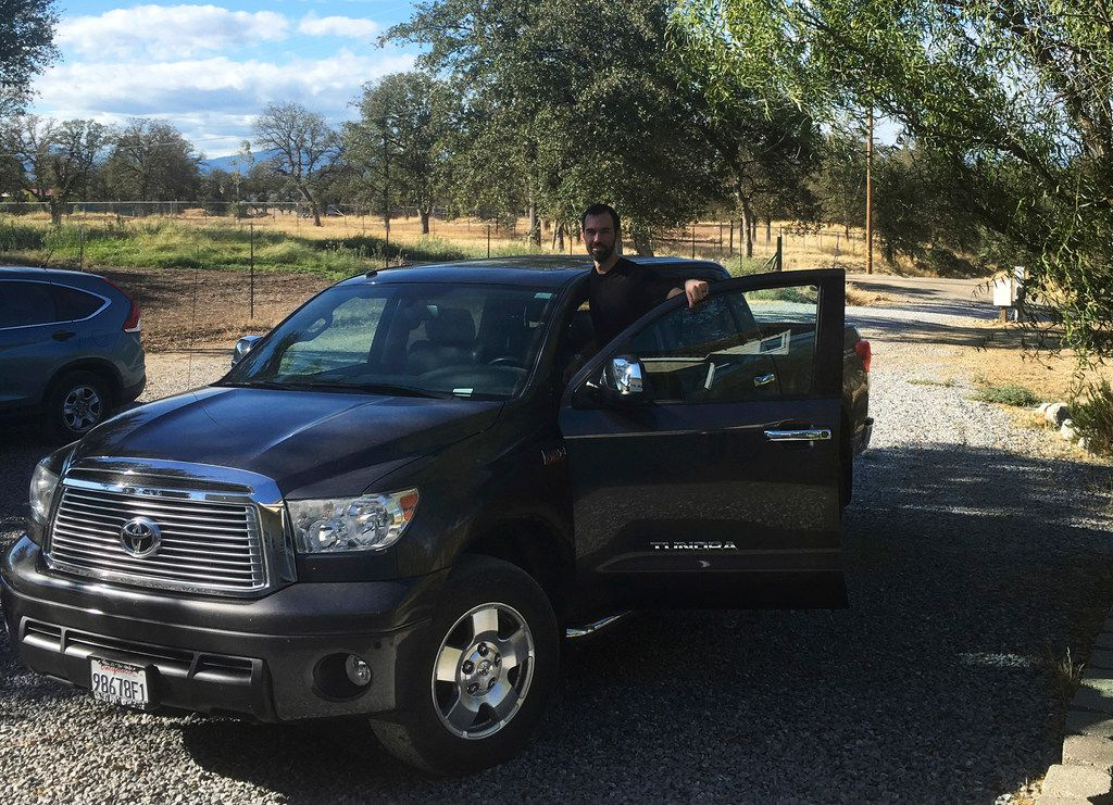 Kendall Bachman's limited-edition 2011 Toyota Tundra CrewMax was upholstered in leather from San Antonio-based Lucchese Boot Co. (Courtesy of Kendall Bachman via The Associated Press)