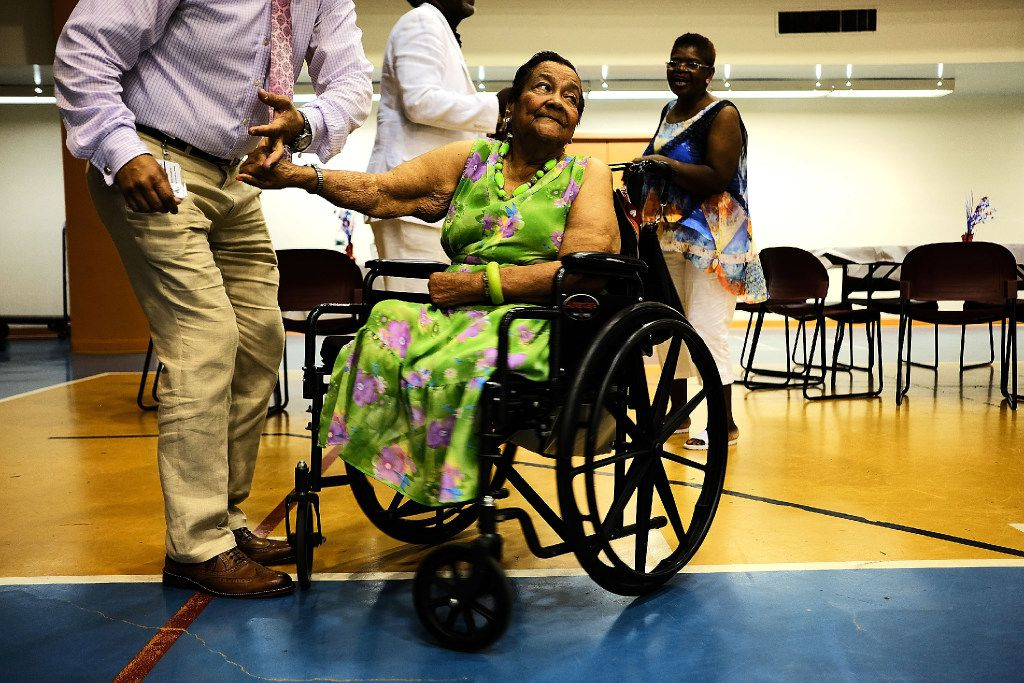 NEW YORK, NY - JUNE 23:  Maria Garcia, 83, dances in her wheelchair at a Senior Citizens Prom sponsored by the MetroPlus, a prepaid health services plan, on June 23, 2017 in New York City. The Harlem seniors were provided with Medicare education and healthcare options at the afternoon event which included dancing, contests and a band. The recently proposed GOP healthcare bill would make significant changes in Medicaid and some changes to Medicare.  (Photo by Spencer Platt/Getty Images)