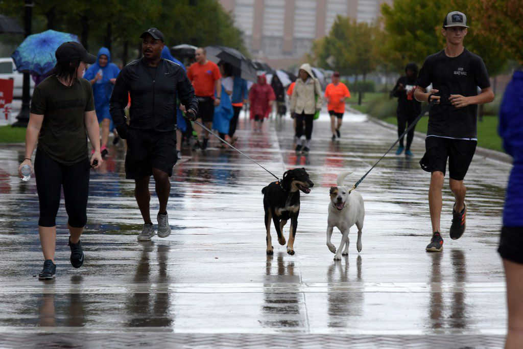 Heart Walkers in Tarrant County on Sept. 8 braved the weather to help raise $6 million for heart research.