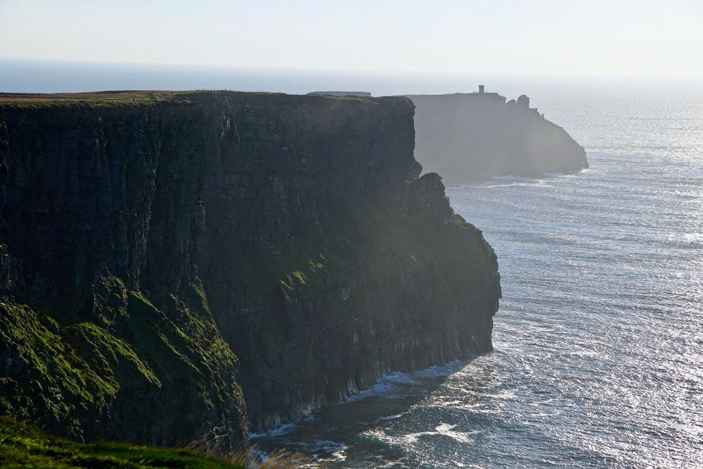 The views are breathtaking along the Cliffs of Moher, massive shale and sandstone cliffs that rise 150 feet out of the sea on Ireland's western coast.