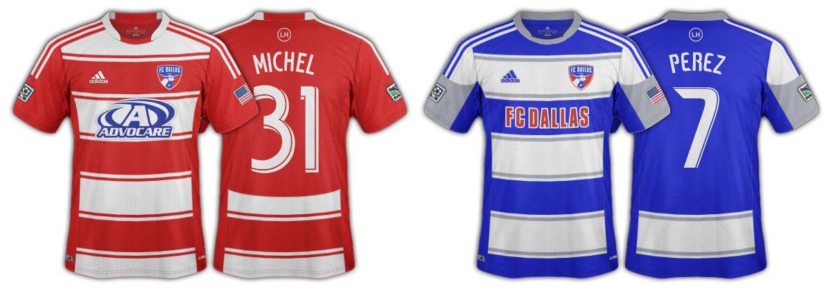2012 and 2013 FC Dallas jerseys