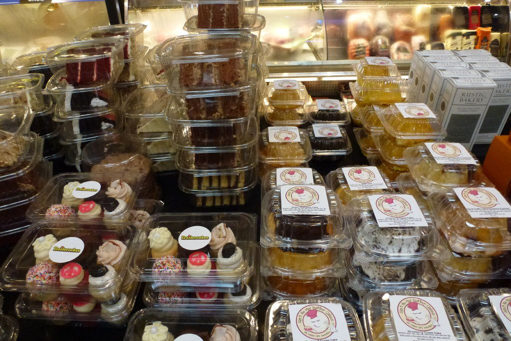 Check out the top of the Royal Blue Grocery cheese counter, where many individual cakes are stacked, including Trailercakes, Cake Bar and Ain't No Mo! Butter Cakes.