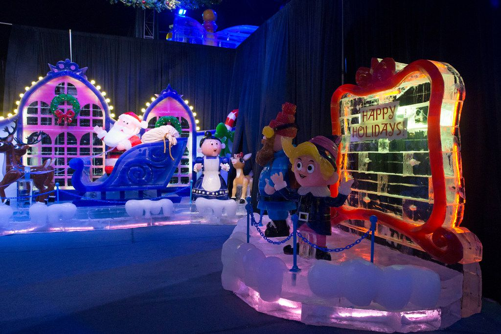 "This year's ICE! exhibit at Gaylord Texan in Grapevine includes scenes from ""Rudolph the Red-Nosed Reindeer."""