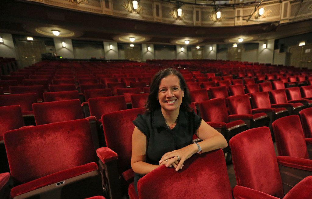 Jennifer Scripps is the director of the city's Office of Cultural Affairs, and the architect of the city's Cultural Plan. She is pictured at the Majestic Theatre in Dallas on Thursday, September 21, 2017.