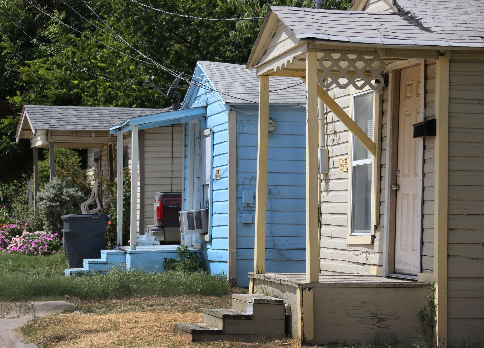 HMK rental properties on Nomas Street in West Dallas.