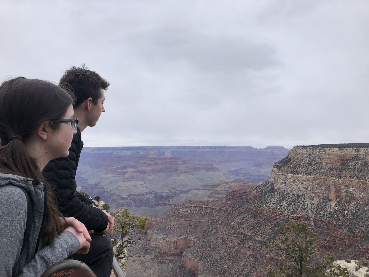 Katie and Cooper at the Grand Canyon