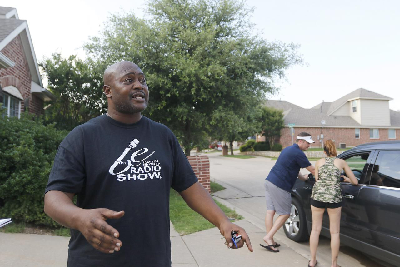 """This is not a racist neighborhood,"" said Benét Embry, a radio personality who lives in the area and witnessed the incident. He commended the officers' speedy response."