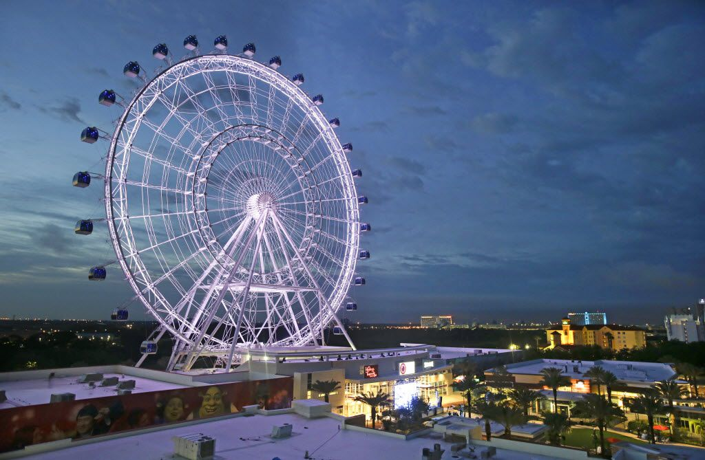 The 400-foot observation wheel Orlando Eye is one of the city's must-see tourist attractions.