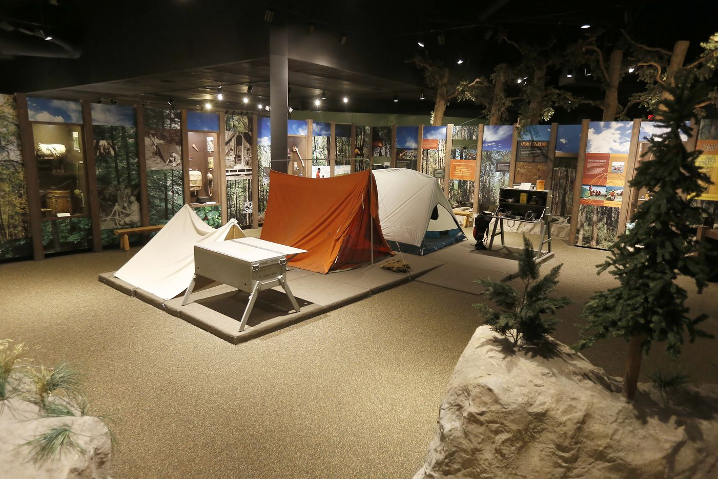 A camping exhibit at the National Scouting Museum. (2015 File Photo/Brandon Wade)