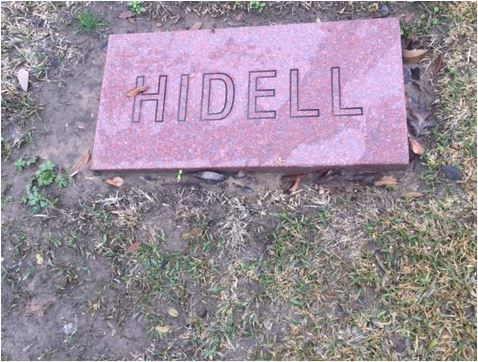 The prank stone in question about a dozen steps from Lee Harvey Oswald's grave.