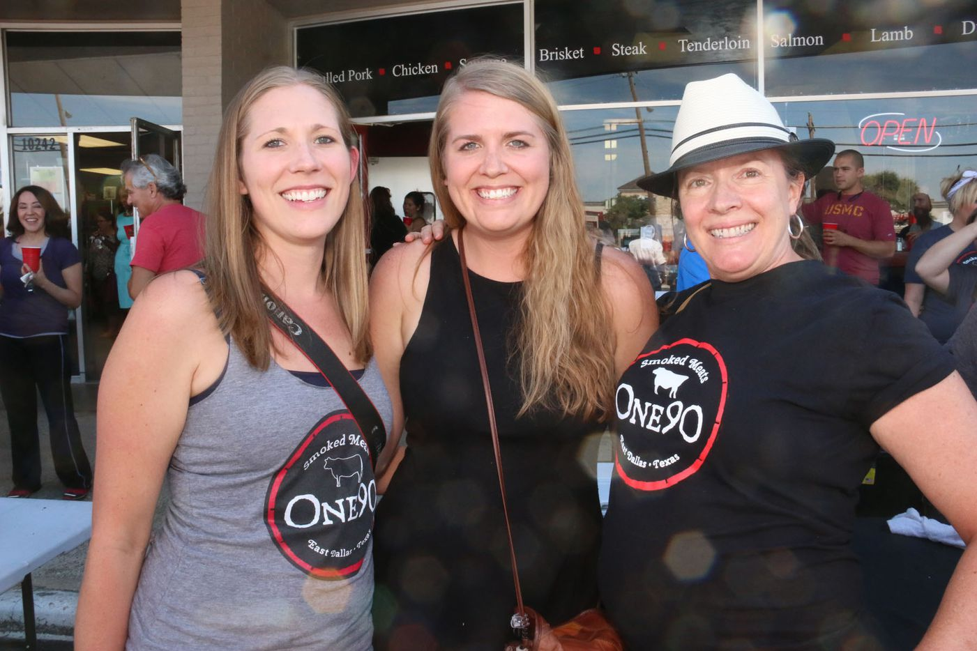 Kelly Guerra, Susie Stillwell and Krista de la Harpe at One90 Smoked Meats grand opening in East Dallas on October 4, 2015.