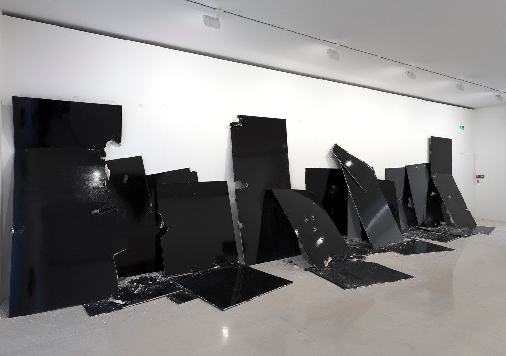 """Dancing on Graves"" gathers painting, sculpture, work on paper and video from Steven Parrino's short but robust career. A life cut short by a motorcycle accident at the age of 46, the artists's body of work has become known for its energetic nihilism and significant contribution to the history of painting and the post-war American avant-garde."