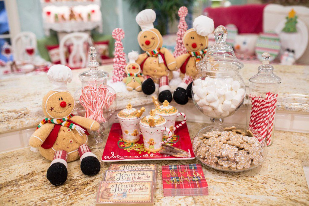 These gingerbread men look at home at Jennifer Houghton's house at Christmastime.
