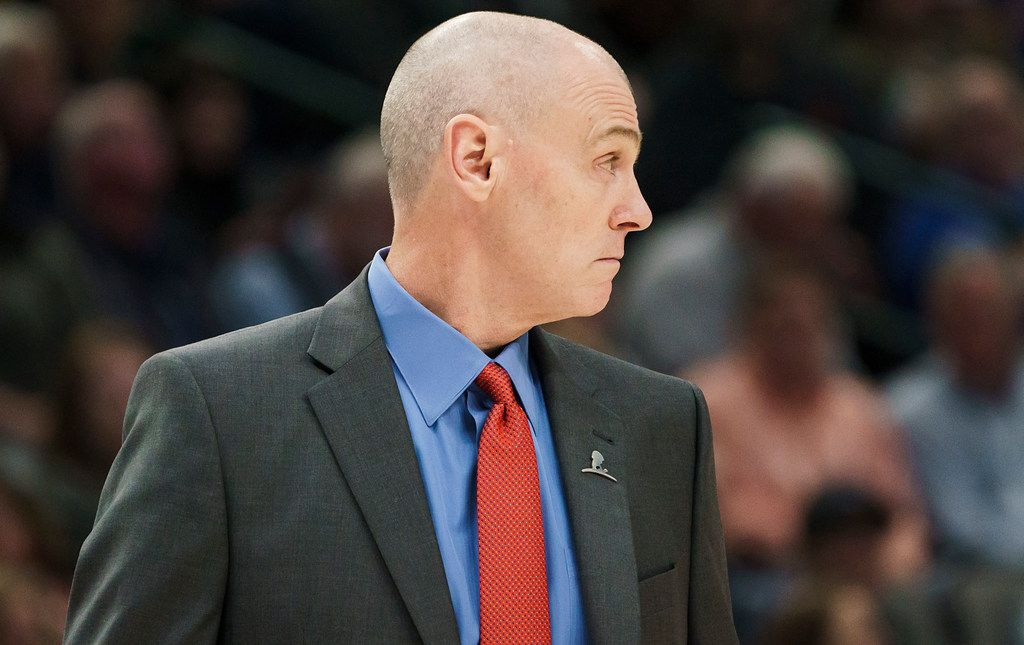 Dallas Mavericks head coach Rick Carlisle watches from the bench during the first half of an NBA basketball game against the New York Knicks at American Airlines Center on Friday, Nov. 8, 2019, in Dallas. (Smiley N. Pool/The Dallas Morning News)