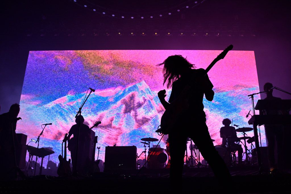 Tame Impala lead singer Kevin Parker performs at the Toyota Music Factory in Irving, Wednesday Oct. 02, 2019.