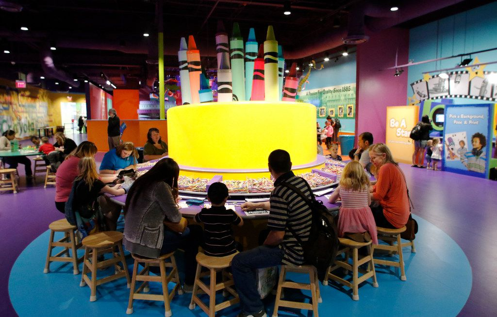 The Crayola Experience opened in March 2018 at the Shops at Willow Bend and features 22 hands-on creative activities.