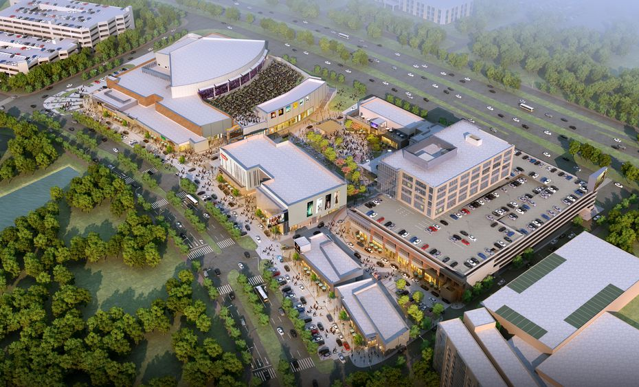 """Here's an artist rendering of the completed Irving Music Factory. The $180 million development will include retail space, offices and restaurants to go along with the """"3-in-1-style"""" Pavilion at Irving Music Factory."""