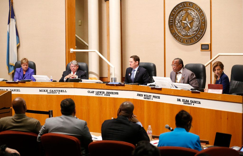 A file photo of a Dallas County Commissioners Court meeting in Dallas, Tuesday, May 2, 2017. (Jae S. Lee/The Dallas Morning News)