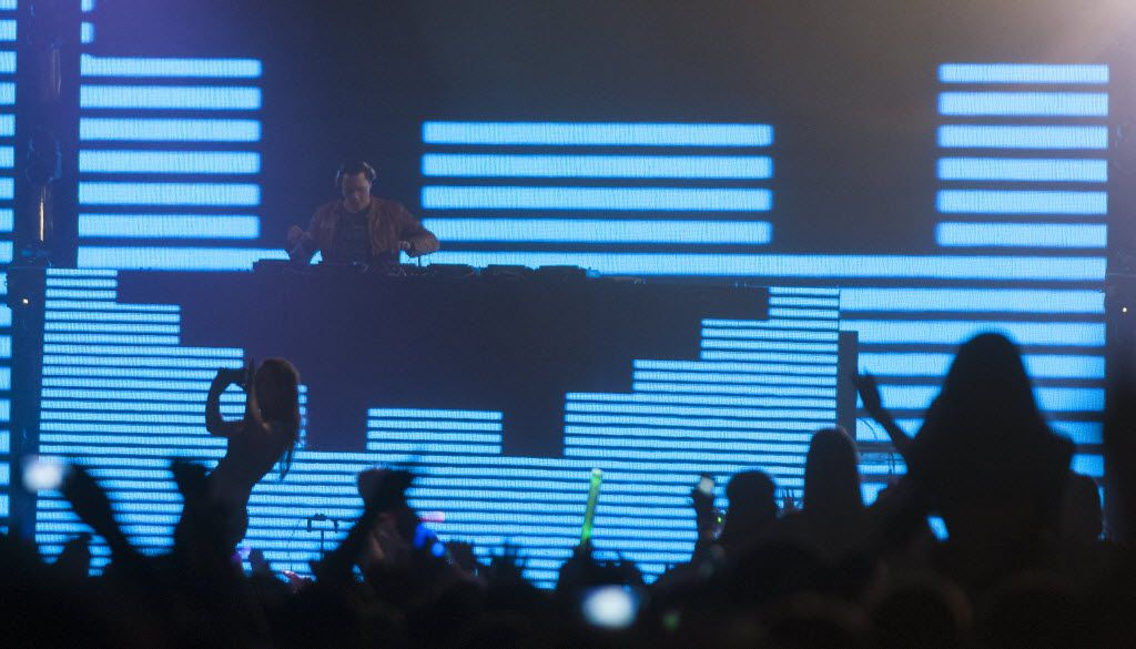 Tiesto, a Dutch DJ, performs at  the Lights All Night NYE Dance Party at Fair on Saturday, Dec. 29, 2012.     (Rex C. Curry/Special Contributor)