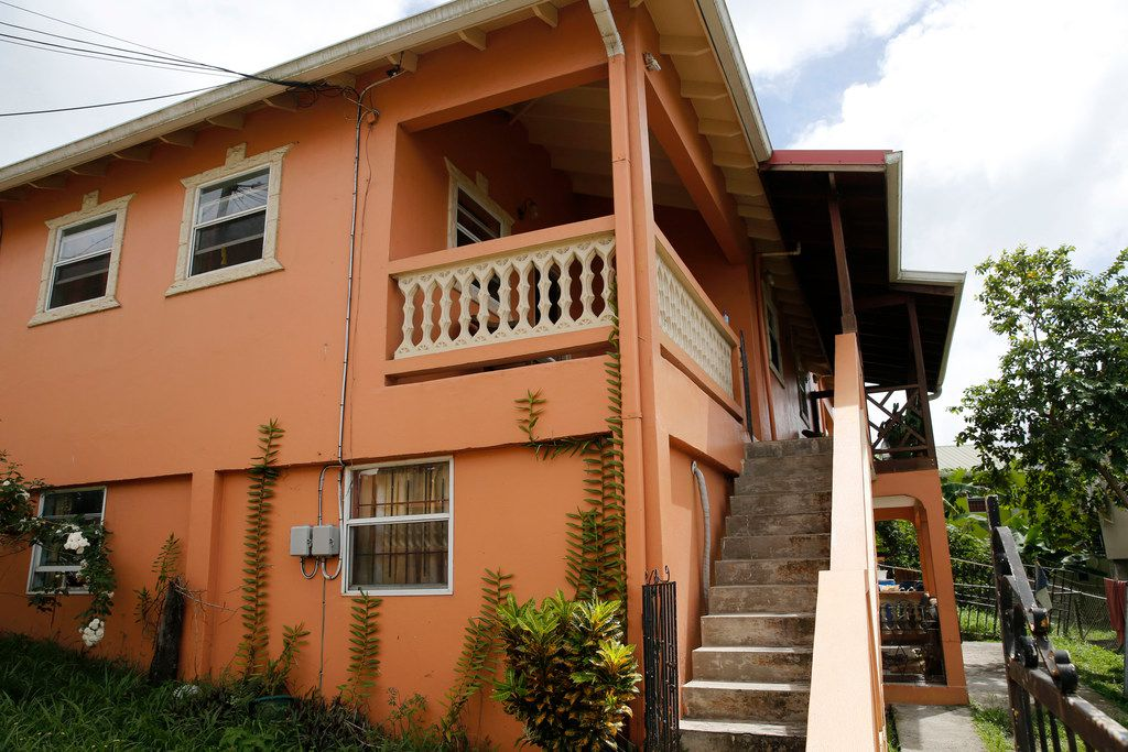 The childhood home of Botham Jean and current home of the Jean family in Castries, St. Lucia.