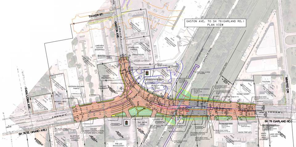 The reverse T option is the one that the Texas Department of Transportation is moving forward with in East Dallas this year.