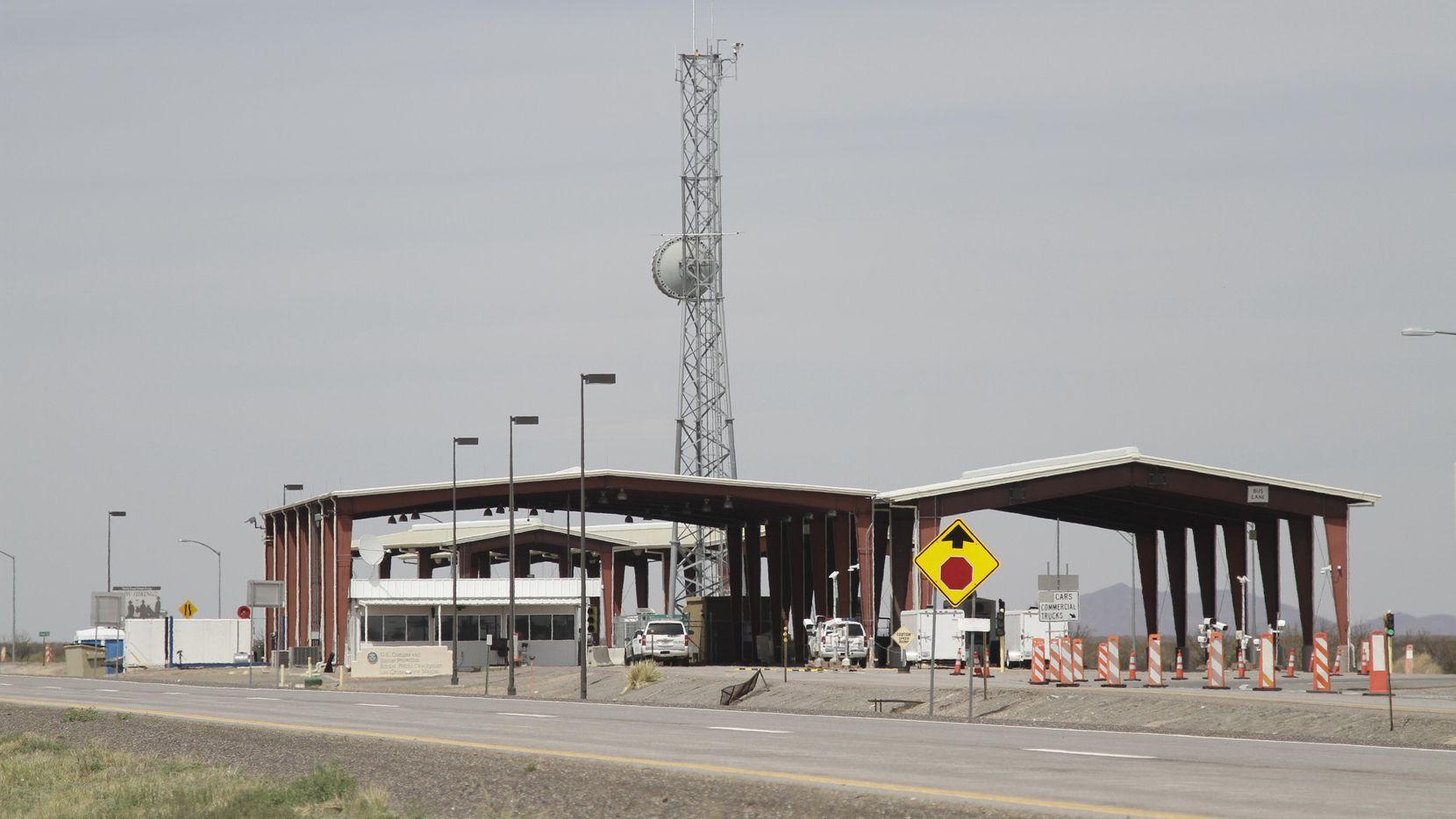 La estación de revisión migratoria de Aduanas y Seguridad Fronteriza (CBP) al norte de Las Cruces, New Mexico. AP