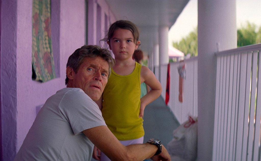 Willem Dafoe, left, the indefatigable moral center of the new movie, The Florida Project, now playing in the Dallas area.