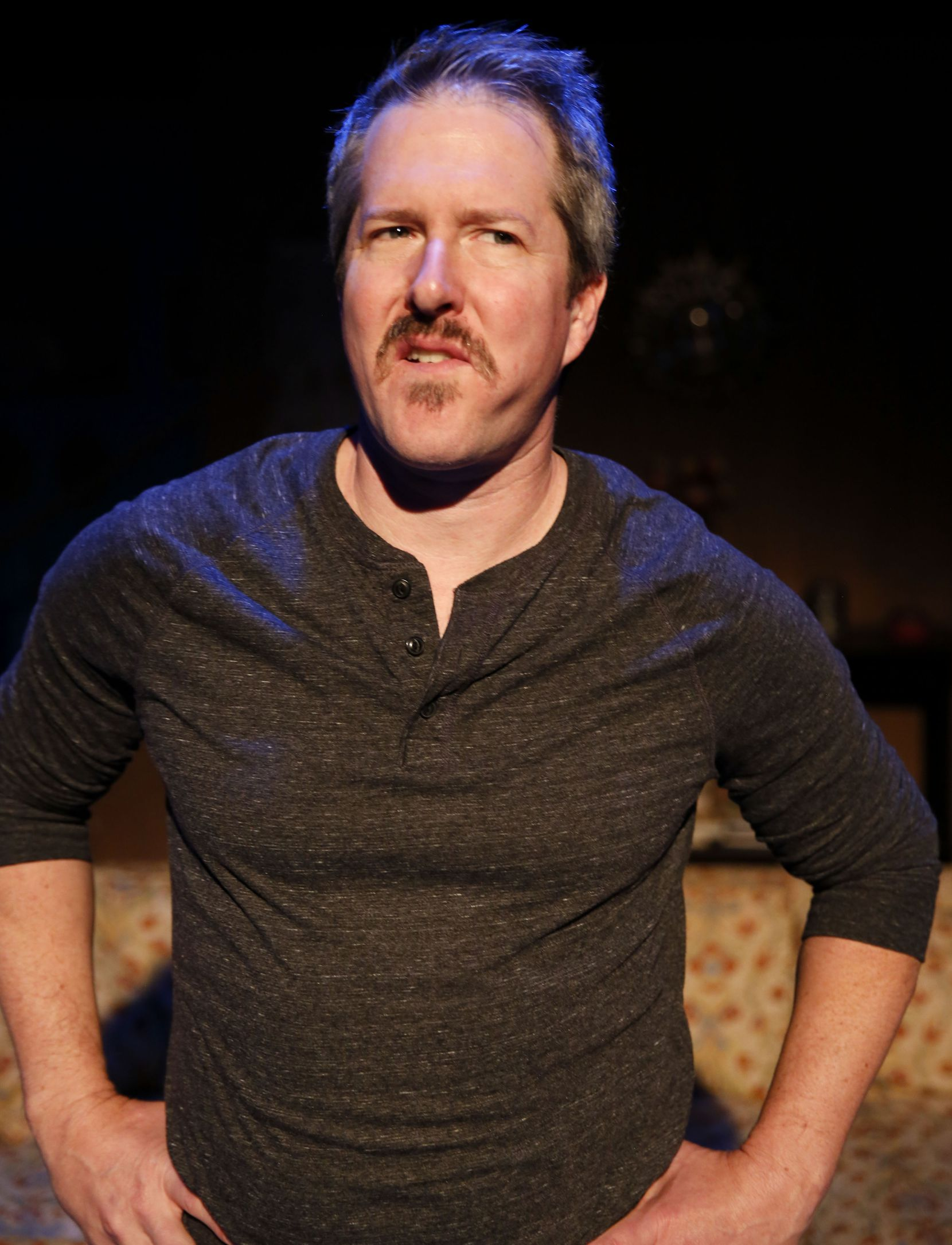 "Chris Hury stars as essayist John D'Agata in Stage West's production of ""The Lifespan of a Fact."""