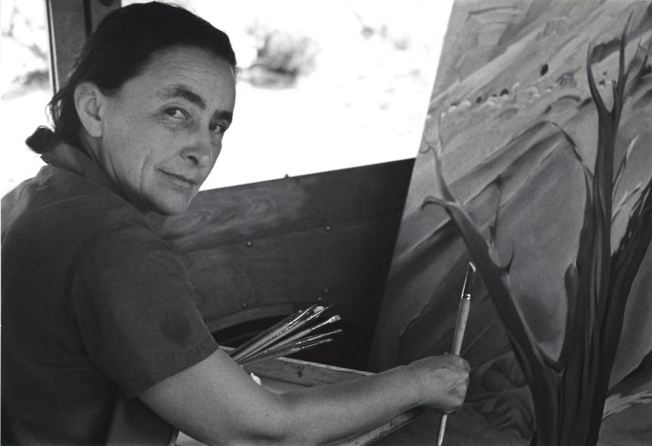 American modernist Georgia O'Keeffe painted in her car at Ghost Ranch in the late 1930s. She lived and worked on the New Mexico ranch for part of every year during the 1930s and '40s.