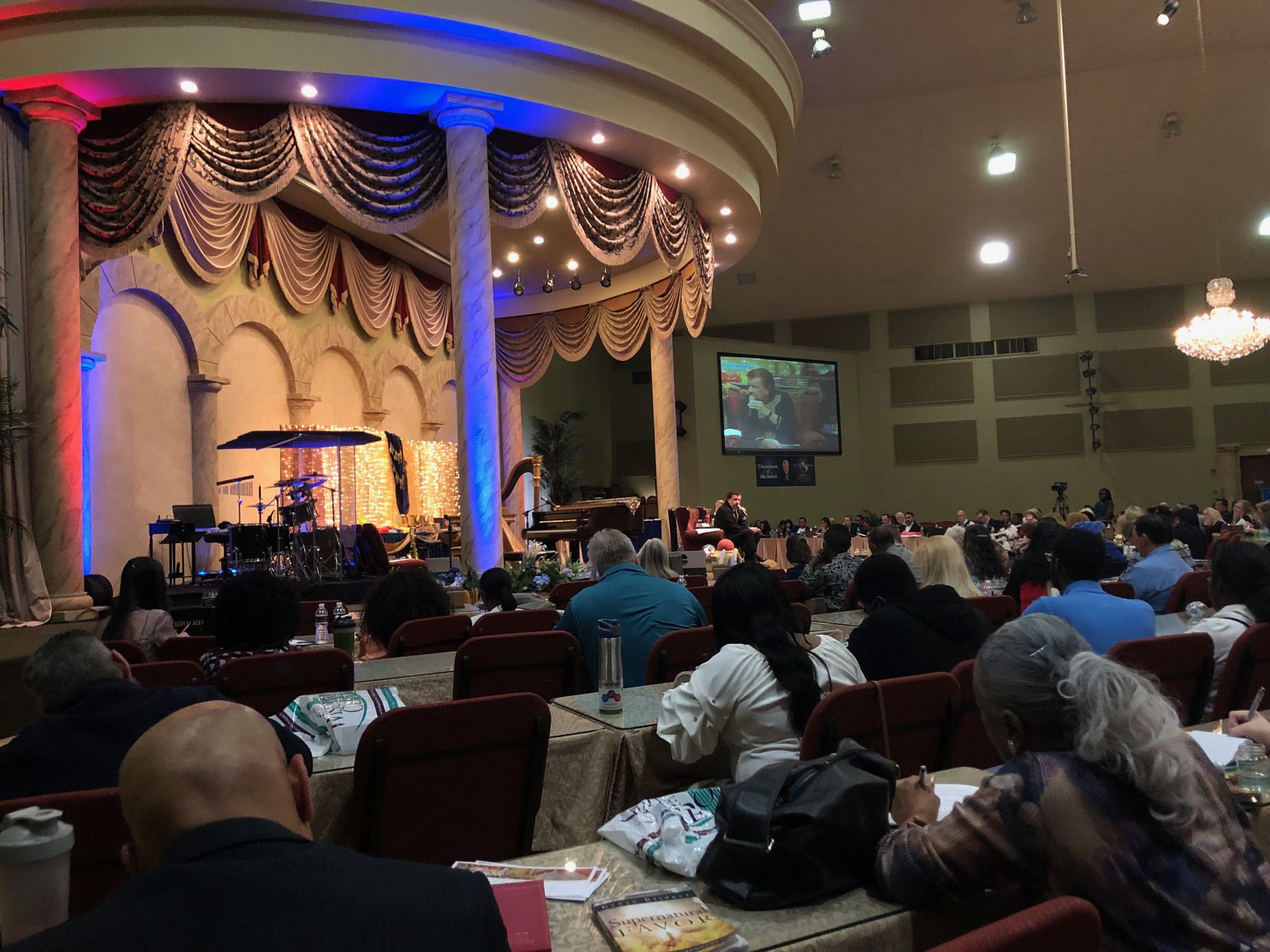 Several hundred people attended Mike Murdock's four-day birthday celebration. This photo was taken on the Saturday before Easter in 2019.