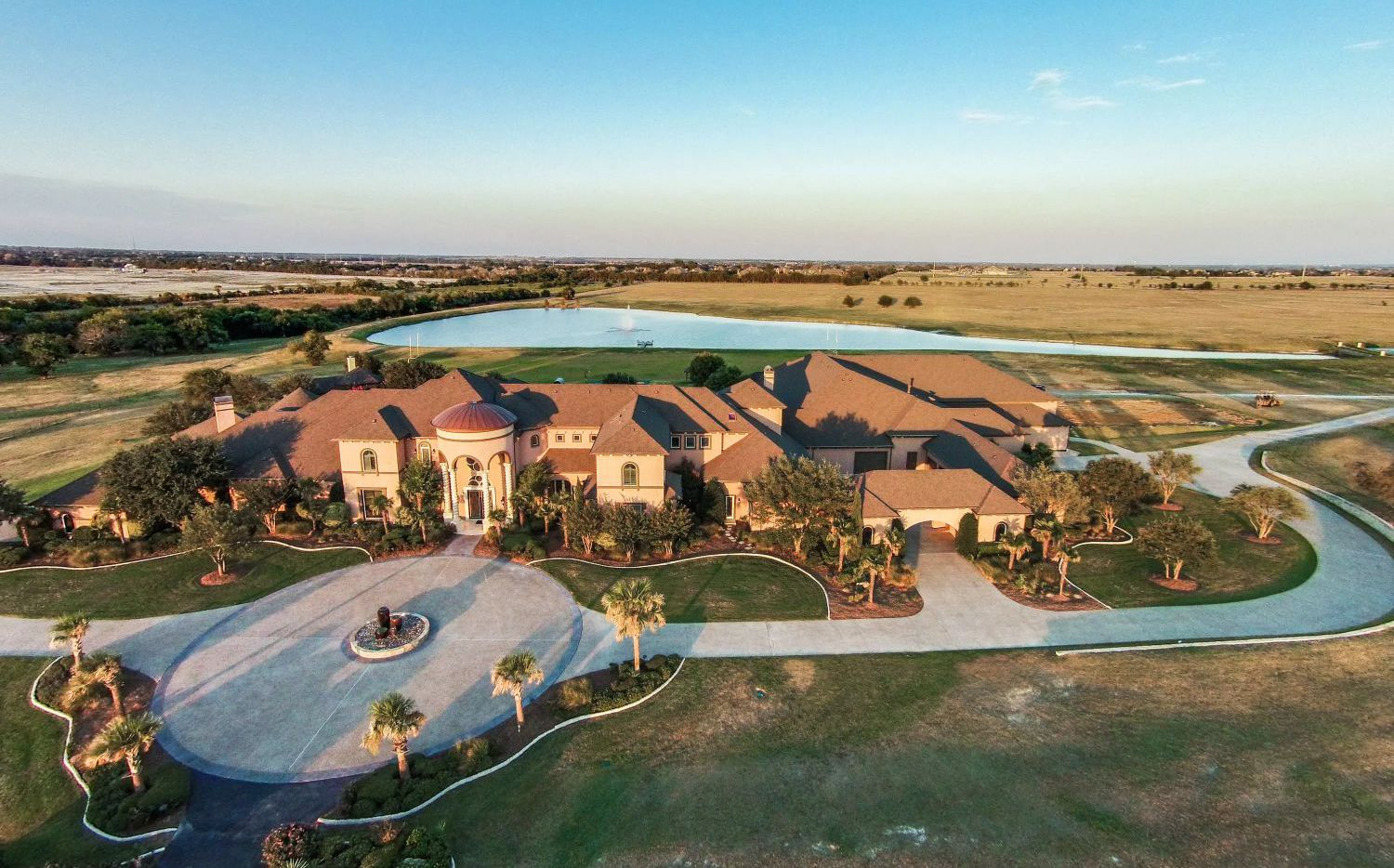 The almost 30,000-square-foot estate is on Preston Road in Prosper.