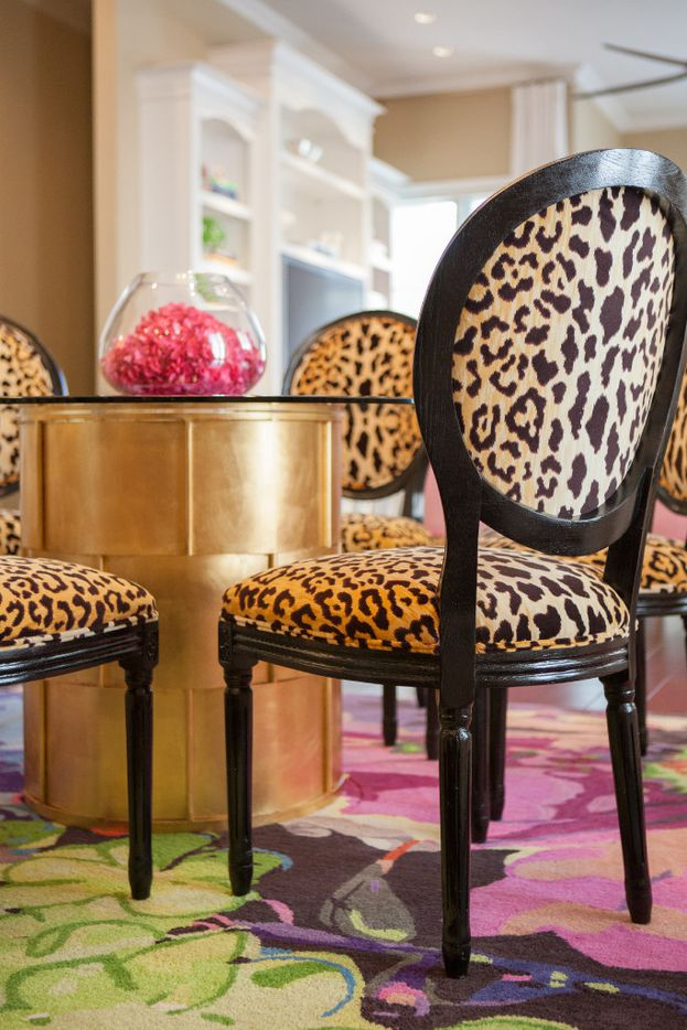 Pair leopard print with florals for a softer look, says Abbe Fenimore.