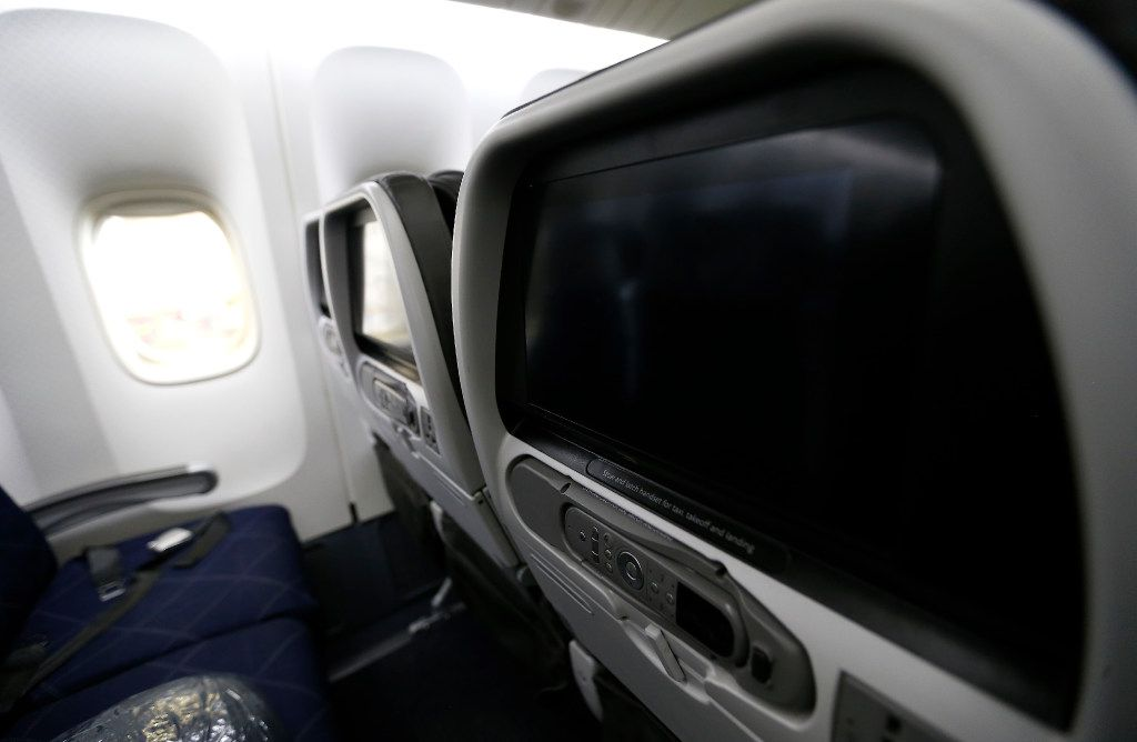 Seats in an American Airlines Boeing 777