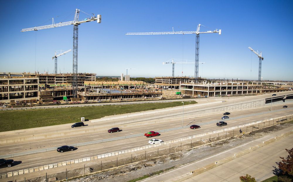 Developers are starting 400 more apartments in the $400 million Legacy West urban village which is under construction on the Dallas North Tollway in Plano. (Ashley Landis/The Dallas Morning News)
