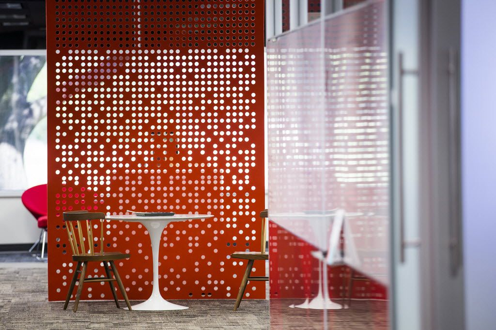 A flexible huddle space furnished by Knoll. (Smiley N. Pool/The Dallas Morning News)