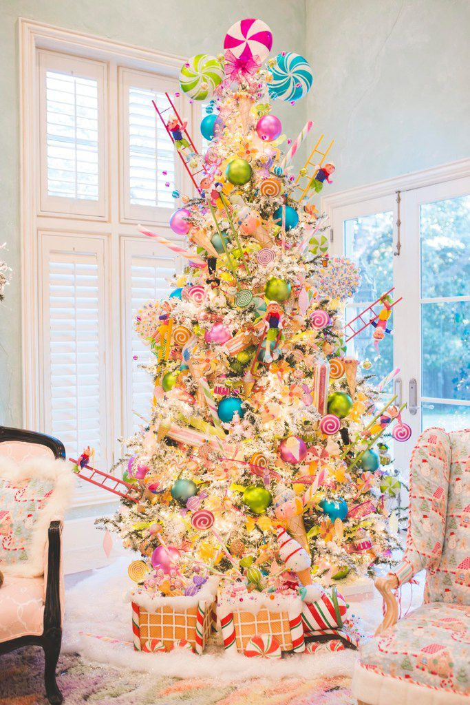 The family room at Jennifer Houghton's home in University Park turned into a Christmas candyland this year.