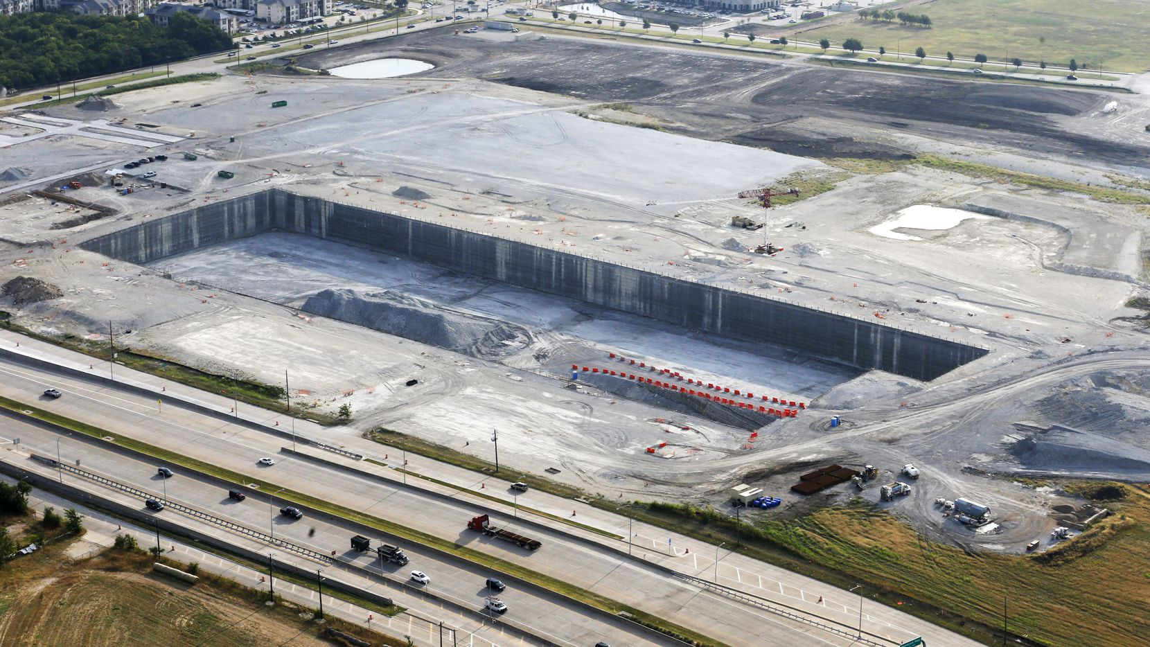 Construction stopped on the $2 billion Wade Park project in Frisco in 2017.