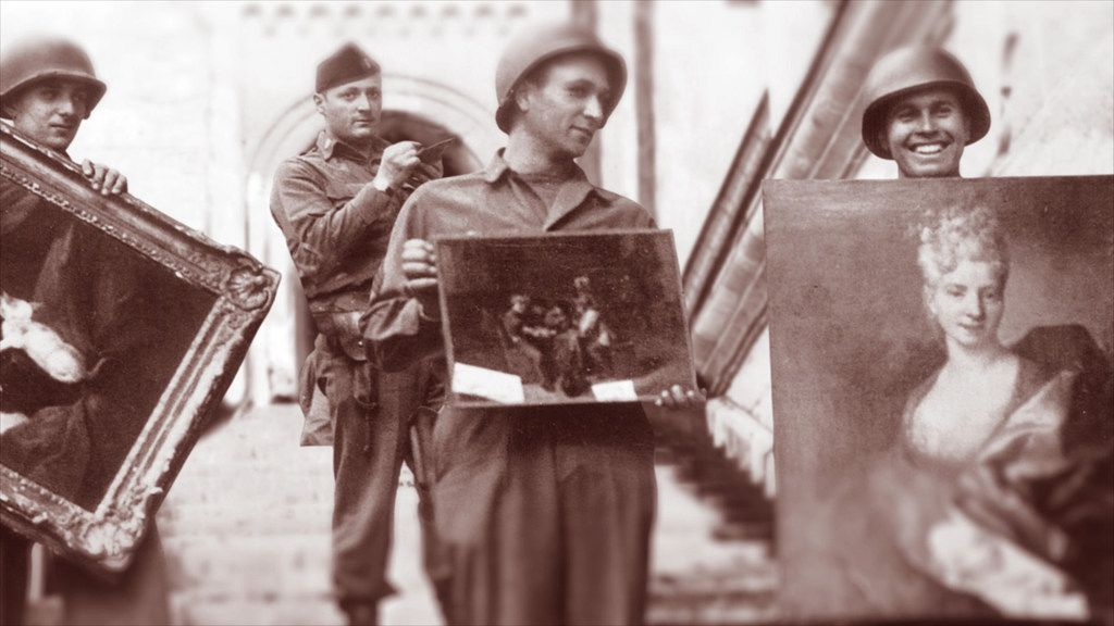 Allies discover looted Nazi paintings.