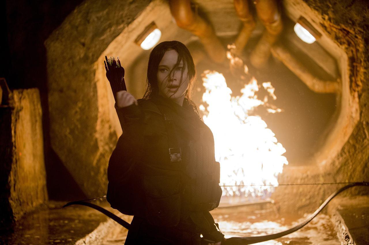 "Jennifer Lawrence stars as Katniss Everdeen in ""The Hunger Games: Mockingjay Part 2."""