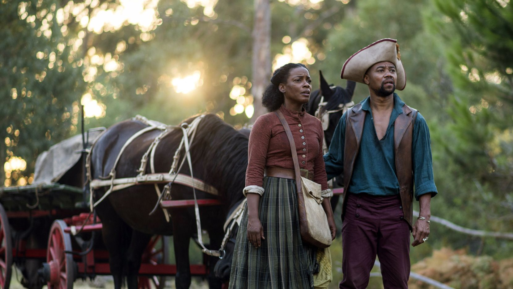 Aunjanue Ellis (left) and Cuba Gooding Jr. star in The Book of Negroes.