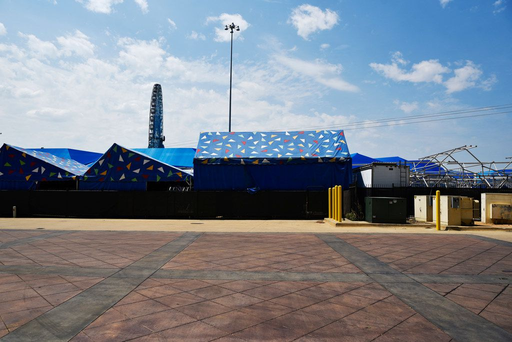 The sealed and closed Midway at the State Fair of Texas inside Fair Park in Dallas on Thursday morning, July 26, 2018.