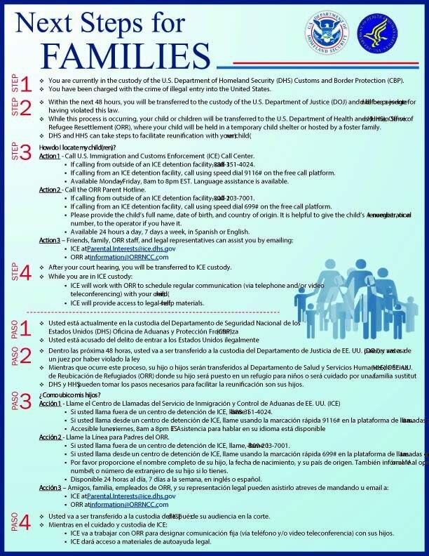 Este es el documento que dan a los migrantes que son detenidos en la frontera antes de separar a su hijos.