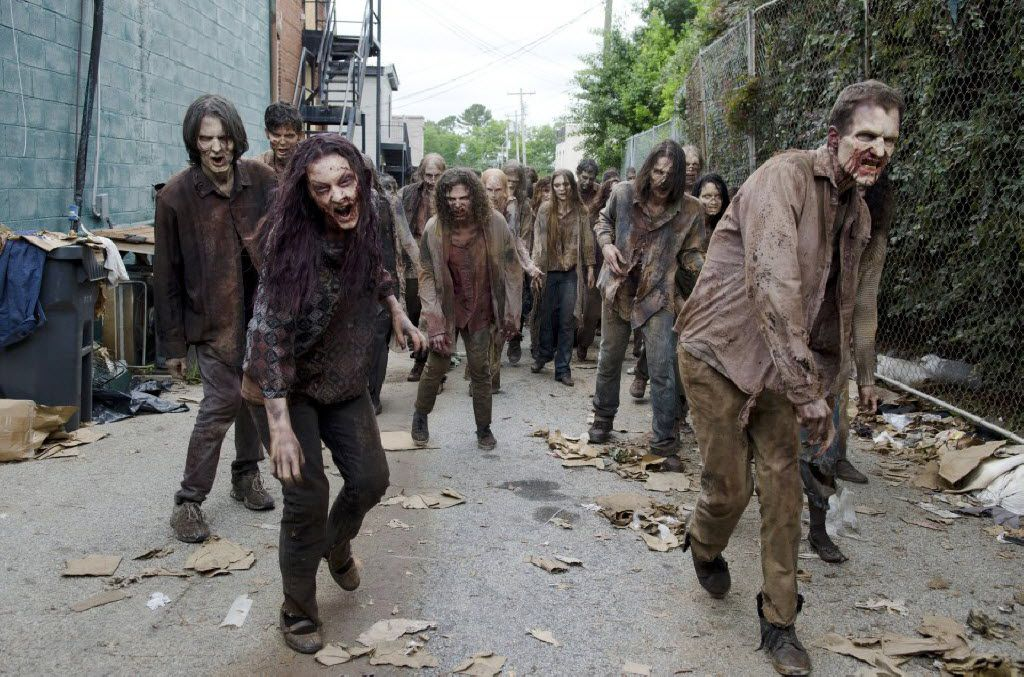Walkers in AMC's hit zombie show The Walking Dead.