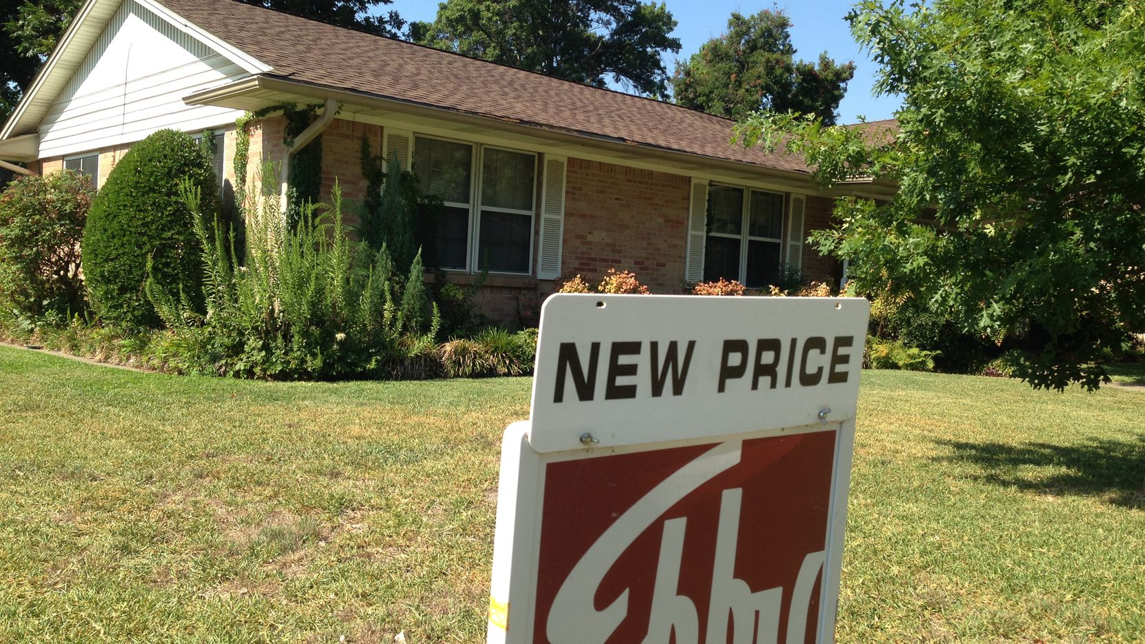 Dallas-area home prices were 2.7% higher in June than a year earlier.