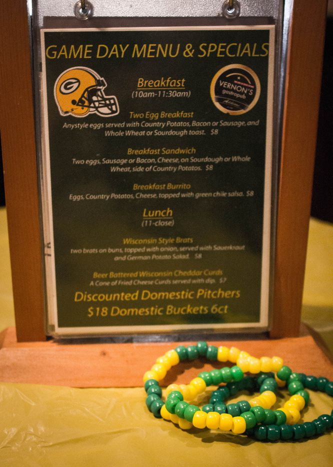 Vernon's Gastropub has become a Green Bay Packers paradise on Sundays during football season.