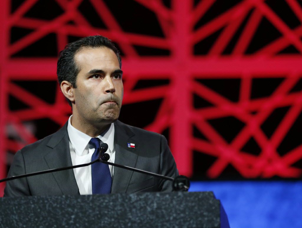 Texas Land Commissioner George P. Bush spoke during the 2016 Texas Republican Convention at the Kay Bailey Hutchison Convention Center in Dallas.