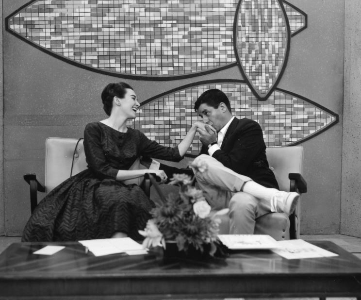 Comedian Jerry Lewis hams it up in a 1963 interview with Wygant. It was the same year he starred in The Nutty Professor and made a cameo appearance in It's A Mad, Mad, Mad, Mad World.