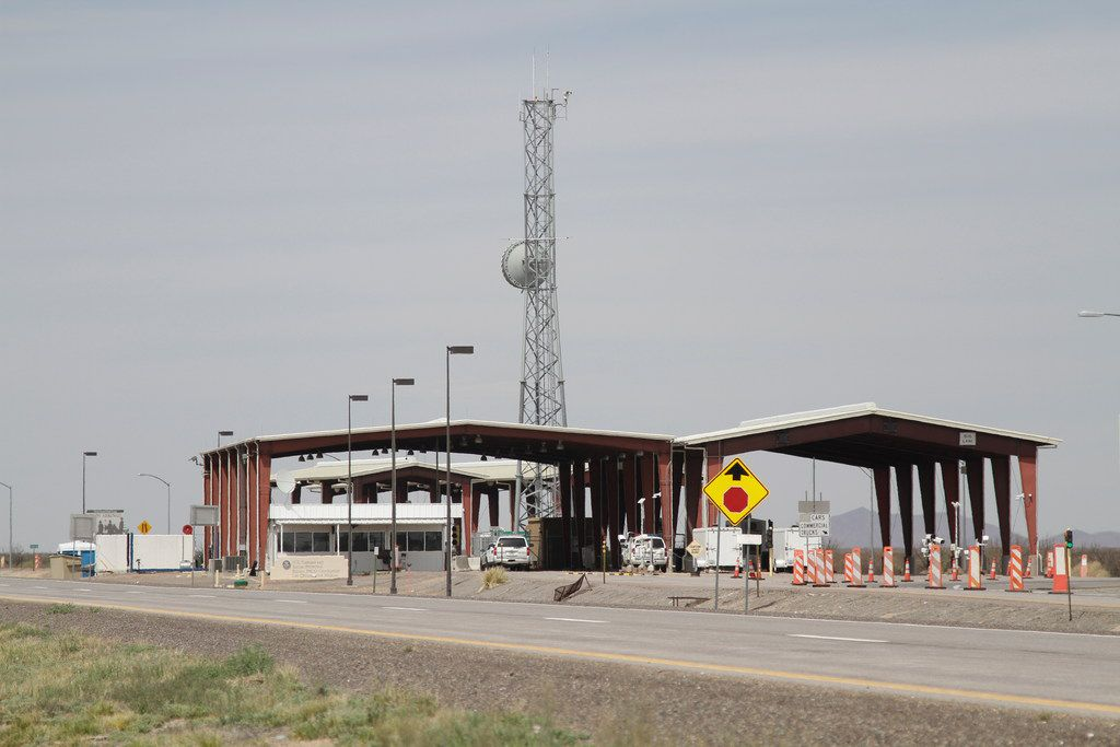 This Tuesday, March 26, 2019, photo shows a border patrol checkpoint, north of Las Cruces, New Mexico, that U.S. immigration authorities have closed and have reassigned agents to repurpose inspection areas to handle an influx of Central Americans arriving at the Mexican border.
