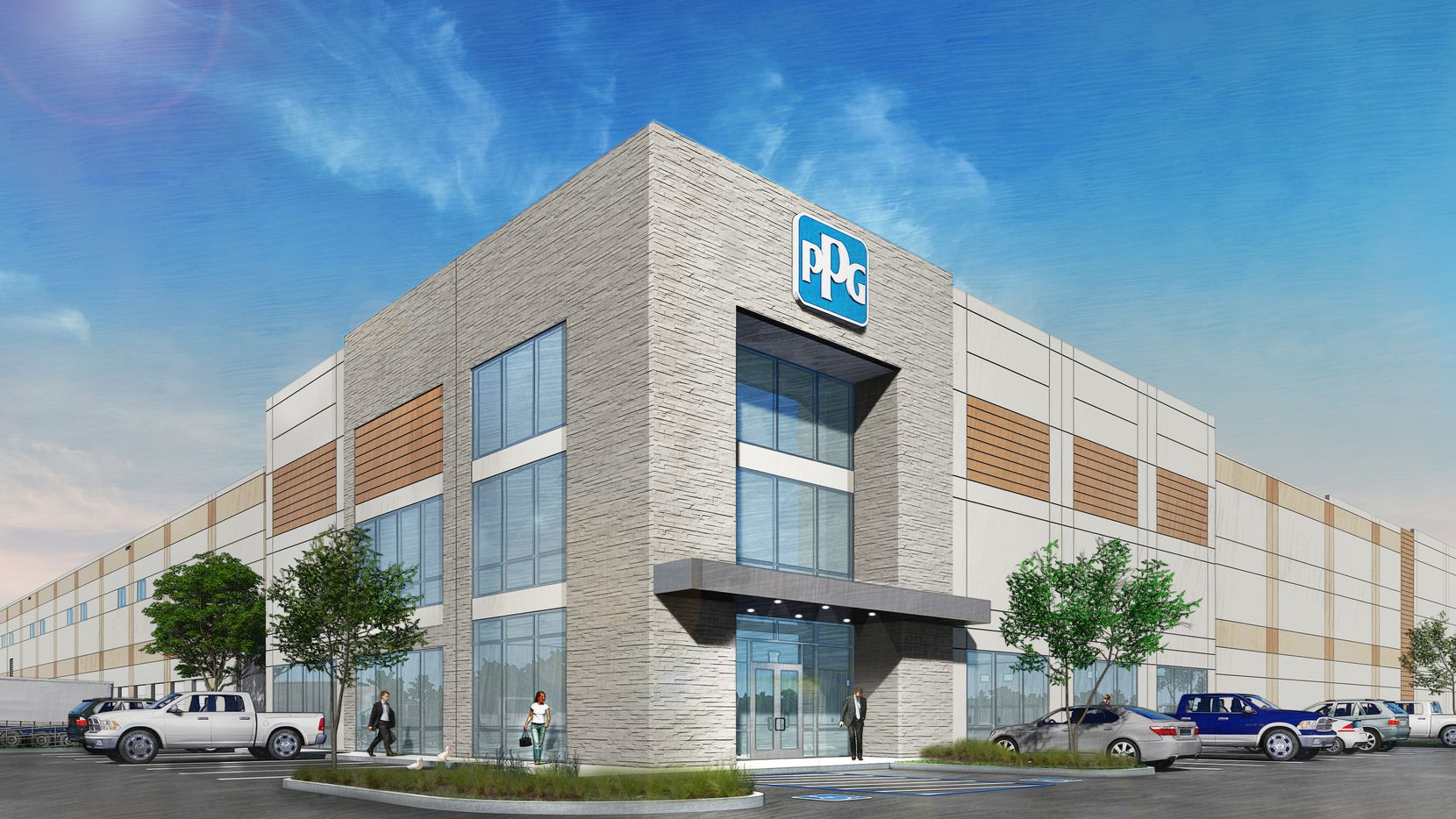 Developer Duke Realty built the distribution center in Flower Mound for PPG's architectural coatings div