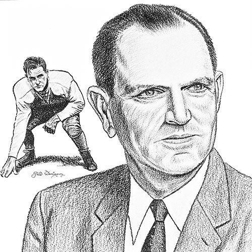 A caricature of TCU coach Abe Martin.